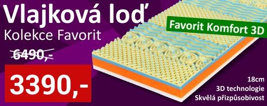 Vlajková loď kolekce matrací Favorit - Favorit Komfort 3D se skvělou přizpůsobivostí a 3D technologií v akční ceně!